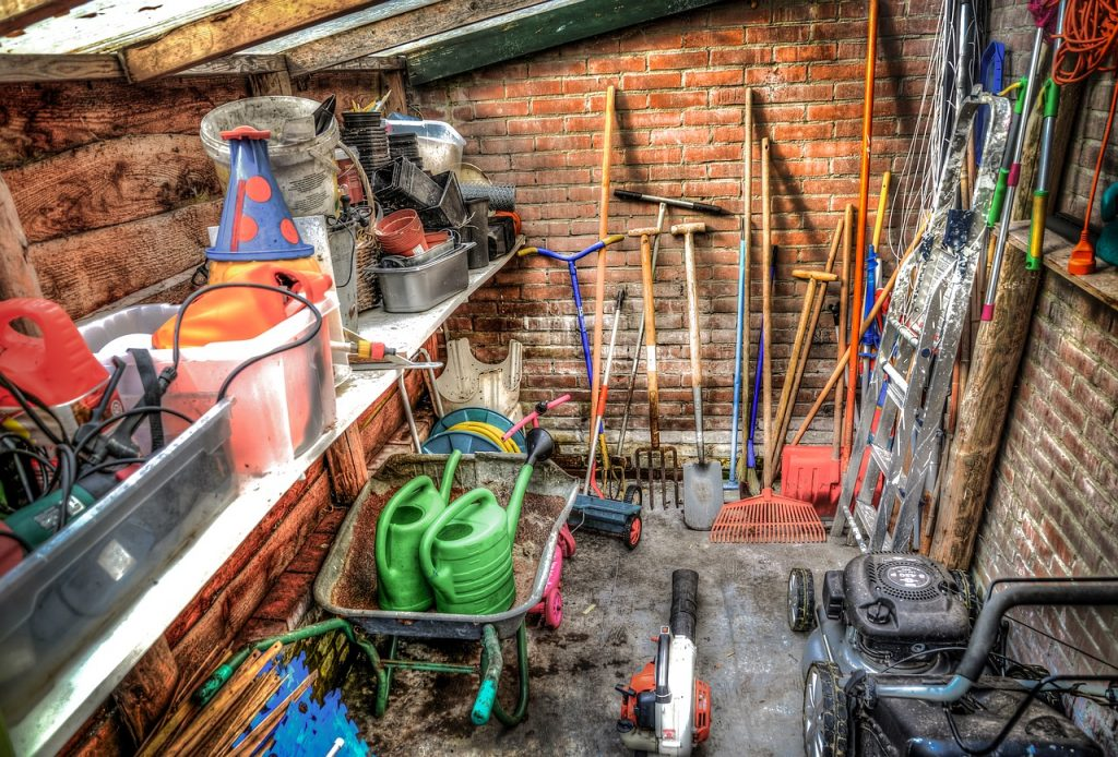 Inside a shed Stewart Timber